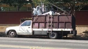 scrap metal truck
